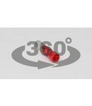 Fisa cilindrica izolata, cupru electrolitic, rosu PH4 1,5mm2, (d1=1,7mm, d2=4mm), PVC