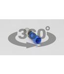 Fisa cilindrica izolata, cupru electrolitic, albastru KH4 2,5mm2, (d1=2,2mm, d2=5mm), PVC