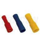Mufa cilindrica izolata, cupru electrolitic, galben SHA4 6mm2, (d1=3,5mm, d2=5mm), PVC