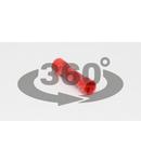 Mufa izolata, cupru electrolitic stanat, rosu PTH 1,5mm2, (L=25mm, d1=2mm), PVC