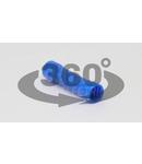 Mufa izolata, cupru electrolitic stanat, albastru KTH 2,5mm2, (L=25mm, d1=2,7mm), PVC