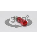 Mufa glisanta izolata, alama, rosu PCSH3 2,8×0,5mm, 1,5mm2