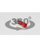 Mufa glisanta izolata, alama, rosu PCSH6 6,3×0,8mm, 1,5mm2