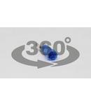 Mufa glisanta izolata, alama, albastru KCSH5 4,8×0,8mm, 2,5mm2
