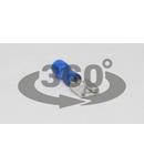 Mufa glisanta izolata, alama, albastru KCSH6 6,3×0,8mm, 2,5mm2