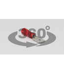 Fisa glisanta izolata, alama, rosu PCS6 6,3×0,8mm, 1,5mm2