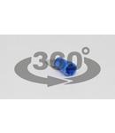 Fisa glisanta izolata, alama, albastru KCS5 4,8×0,8mm, 2,5mm2