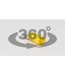 Fisa glisanta izolata, alama, galben SCS6 6,3×0,8mm, 6mm2