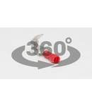 Fisa+mufa glisanta izolata, alama stanata, rosu PCSE 6,3×0,8mm, 1,5mm2