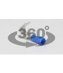 Fisa+mufa glisanta izolata, alama stanata, albastru KCSE 6,3×0,8mm, 2,5mm2