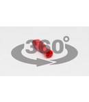 Mufa glisanta complet izolata , alama stanata, rosu PTCSH3 1,5mm2, 2,8×0,5mm