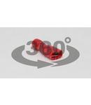 Mufa glisanta complet izolata , alama stanata, rosu PTCSH5 1,5mm2, 4,8×0,8mm