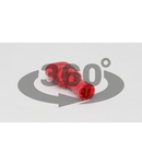 Mufa glisanta complet izolata , alama stanata, rosu PTCSH6 1,5mm2, 6,3×0,8mm