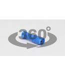 Mufa glisanta complet izolata , alama stanata, albastru KTCSH3 2,5mm2, 2,8×0,5 mm