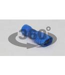 Mufa glisanta complet izolata , alama stanata, albastru KTCSH5 2,5mm2, 4,8×0,8 mm