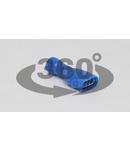 Mufa glisanta complet izolata , alama stanata, albastru KTCSH6 2,5mm2, 6,3×0,8 mm