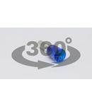 Tub de capat izolat (PA6.6),Cu electrolitic stanat, albastru E116 2,5mm2, L=15,2mm