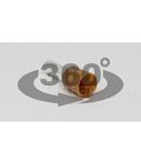 Tub de capat izolat (PA6.6),Cu electrolitic stanat, maro E24 10mm2, L=21,5mm