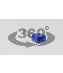 Tub de capat dublu, izolat (PA6.6),cupru el.stanat, albastru E16I 2×2,5mm2, l=13mm