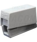 Conector pentru corpuri de iluminat OLC11 In: 1-2,5mm2; Out: 0,5-2,5mm2, 24A, 400VAC, 2P