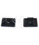 Talpa autoadeziva pt.fasete,2 directii de introducere,neagra TALP271-2 26,5×26,5mm, d=4,3mm, PA6.6