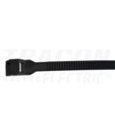 Fasete PA12 rezistente la UV, negre 300-12 300×9mm, D=25-80mm, PA12