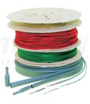 Tub termocontr.subtire,contractie 2:1,verde-galben,pe tambur ZS024ZS-D 2,4/1,2mm, POLIOLEFIN