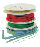 Tub termocontr. subtire, contractie 2:1, galben, pe tambur ZS024S-D 2,4/1,2mm, POLIOLEFIN
