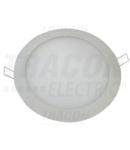 Corp de iluminat incorporabil,cu LED-uri, rotund, alb LED-DL-18WW 220-240 VAC; 18 W; 1300 lm; D=225 mm, 2700 K; IP40, EEI=A