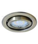 Corp de iluminat incastrabil pentru surse spot, auriu mat TLC-6MG max.50W, MR16, D=97mm, 30°, EEI=A++ - E