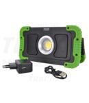 Proiector instalator LED cu acumulator, difuzor bluetooth STLFLBT15W 15W, 6000K, 3,7V, 8000mAh, Li-Ion, 1500lm, 4-10 h, IP40