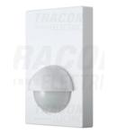 Detector de miscare infrarosu, de perete, plat, alb TMB-016 230V, 180°, 1-12 m, 10 s-7 min, 3-2000lux, IP44