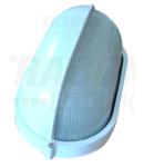Corp iluminat metalic protejat,oval,alb, acoperit orizontal TLH-14FW 230V, 50Hz, E27, max.100W, IP44, EEI=A++,A+,A,B,C,D,E