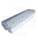 Corp iluminat de siguranta, permanent TLBV-18M 230V, 50Hz, T5, G5, 1×8W, 3h,2,4V/4,5Ah,Ni-Cd, IP65, EEI=A