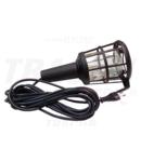 Lampa instalator cu grilaj din plastic, dispersor sticla, II STL-04 230V, 50Hz, max.60W,5m,2×0,75mm2,H05RN,EEI=A++,A+,A,B,C,D,E