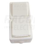 Comutator + priza cu CP tip pin, PT, vertical TR-PHF08V 16A/250VAC, IP54, (106)