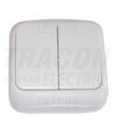 Intrerupator dublu pentru candelabre pe tencuiala(pt.tapet) TTK-06 10AX/250VAC, IP20 (105)