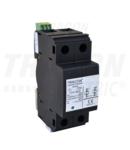 Descarcator curent de trasnet, AC, clasa 1,unitar cu soclul TTV1-50-2P 230/400 V, 50 Hz, 25/50 kA, 10/350 us, 2P