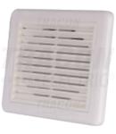 Jaluzea fixa cu grila de exterior pentru ventilator de baie VFS100 151×151×45mm, D=96mm