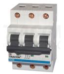 Siguranta automata, 3 poli, curba caracteristica D TDM-3D-6 6A, 10kA