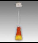 Lustra Equa 11 cu 1 bec Brilux-crom satin / rosu-galben (dungi)