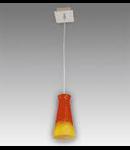 Lustra Equa 11 cu 1 bec Brilux-portocaliu-albastru (dungi)