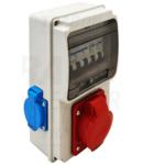 Cutie de distributie cu protectie TDB01-6MV Prot.:MCB,Out: 2×SCHUKO+1×16A(3P+N+E)