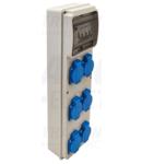 Cutie de distributie cu protectie TDB05-6MV Prot.: RCCB, MCB, Out: 6×SCHUKO