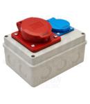 Cutie de distributie, fara protectie TDB06-0M Out: 1×SCHUKO+1×16A(3P+N+E)