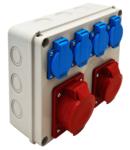 Cutie de distributie, fara protectie TDB08-0M Out: 4×SCHUKO+1×16A(3P+N+E)+1×32A(3P+N+E)