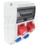 Cutie de distributie ind.cu protectie, complet echipata TDB09-12MV Prot.: RCCB, MCB Out: 2×SCHUKO+2×32A(3P+N+E)