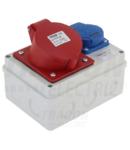 Cutie de distributie industriala, fara protectie TDB11-0M Out: 1×SCHUKO+1×32A(3P+N+E)