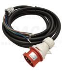 Cablu din cauciuc pentru cutii industriale de distributie TDB-CABLE5P32 GT 5×4mm 2, 5m, 32A, 5p
