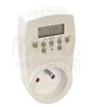 Programator electronic cu priza, saptamanal,CP tip pin TKO-DHEF 230V, 16A, IP20